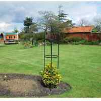 Black Metal Garden Obelisk Climbing Plants & Roses 190 x 41 x 41cm Great Value!
