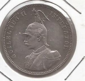 ALEMANIA AFRICA ORIENTAL ENIE RUPIE AÑO 1890 MONEDA DE PLATA