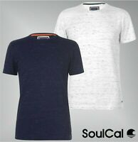 Mens SoulCal Short Sleeves Crew Neck Plain Textured T Shirt Sizes from S to XXL
