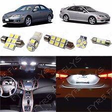 8x White LED lights interior package kit for 2003-2008 Mazda 6 Mazda6 MS2W