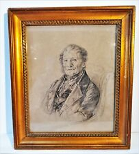 More details for 19th c pencil/charcoal drawing of a gentleman with legion d'honneur.