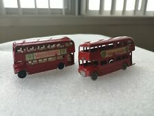 2 Vintage Lesney Matchbox Series No 5 Red Routemaster Bus Diecast Model England