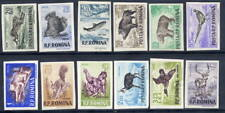 ROMANIA 1956 Game Animals imperorate set in changed colours  MNH / **