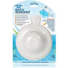 BathShroom® Overflow Drain Cover for Fuller and Warmer Baths by TubShroom, White