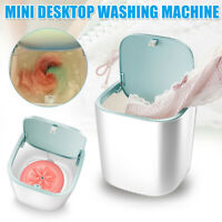 Pink Mini Turbo Washer Small-Scale Cleaning Machine Mini Washing Machine Electric Compact Laundry Machines Portable Washer Energy Saving with Portable USB for Underwear Socks