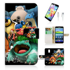 ( For Samsung S5 ) Wallet Case Cover PB10253 Pokemon