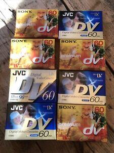 8 × JVC &  Sony Mini DV Digital Video Tape Cassette DV60 New & Sealed