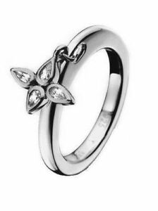 JOOP Schmuck Damen-Ring Flora silber Zirkonia JJ0835 GR. 59 Beisteckring