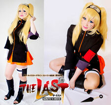 New Anime NARUTO THE LAST Uzumaki Naruto  Cosplay Costume full suit Any Size