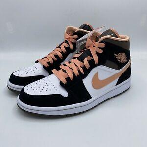Nike Air Jordan 1 Mid SE Peach Mocha (W) DH0210-100 6.5W-12W Free Shipping NEW