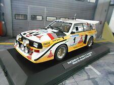 AUDI S1 Sport Quattro Rallye S1 E2 Semperit AT #1 Röhrl 1985 UMBAU bas IXO 1:18