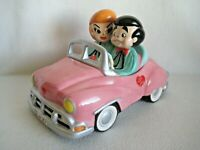 I LOVE LUCY Pink Car Vandor Cookie Jar Limited Edition 2005 RARE
