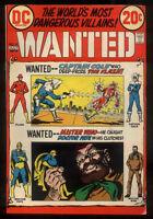 Wanted #8 Very Fine - The Worlds Most Dangerous Villains DC Comics 1972 *SA