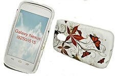 Design no. 1 Silicone TPU Cover Case + Pellicola Protettiva Display Samsung Galaxy Nexus