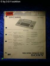 Sony Service Manual RM E300 Video Editing Controller Titler (#1064)