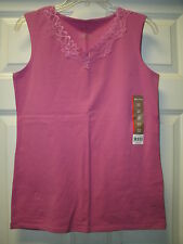 WHITE STAG Lace Trim Sleeveless Tank Cami Top Outfit Purple Orcshi Size S NWT