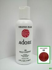 CREATIVE IMAGE ADORE SEMI PERMANENT HAIR COLOR #69 WILD CHERRY 4oz
