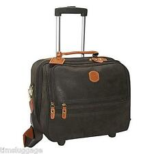 """Bric's Life 15"""" Rolling Tote, Olive, Carry-On Wheeled Laptop Case NEW!"""