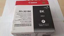 Genuine Canon PFI-301BK Ink Tank Cartridge 330ml IPF8000/9000