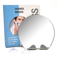 Anti-fog Anti-fall Travel Mirror Bathroom Home Shower Makeup Tools Round