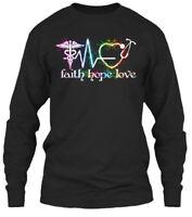 Nurse Faith Love Hope 2 - Gildan Long Sleeve Tee T-Shirt