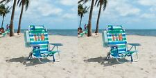 New 2x Tommy Bahama Backpack Beach Chair Storage Pockets Pool Camping