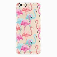 For iPhone 8 7 6 Plus Soft TPU Silicone Back Case Cover Flamingo Cartoon Pattern
