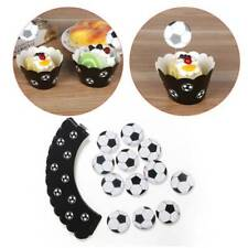 24pcs/lot Football Paper Cupcake Wrappers Toppers For Kids Party Cake Cups