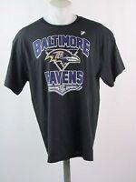 NFL Team Apparel Men's Black Baltimore Ravens T-Shirt Size XL