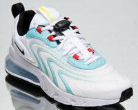 Nike Air Max 270 React ENG Men's White Black Aqua Low Lifestyle Sneakers Shoes