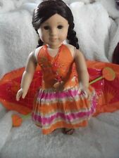 American Girl Doll Jess Complete with Meet Outfit, Necklace, and Kayak + Book