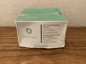 Monat Hair Transformation Masque with Rejuveniqe S 4.2 oz New W/ Package Damage