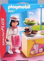 PLAYMOBIL Special Plus 9097 Konditorin Torte Donut Kuchen Kuchentheke NEU