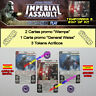 STAR WARS IMPERIAL ASSAULT 2017 T3 OP KIT ESPAÑOL General Weiss, Wampa +3 Tokens