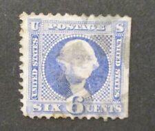 1869 6c Washington, ultramarine S#115 used