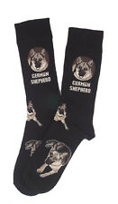 German Shepherd Breed of Dog Comfortable Well Made Socks in Black Perfect Gift