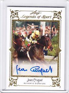 2012 Leaf Legends of Sport Auto Base Gold Jean Cruguet 3/5
