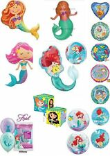 Mermaid & Narwhal Helium Balloons Party Ware Decorations Ariel Little Mermaid