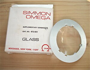Simmon Omega B22 Enlarger 472-001 Supplementary Condenser NOS