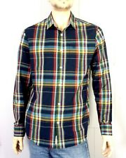 euc An Original Penguin by Munsingwear Colorful Plaid Dress Shirt Slim Fit L