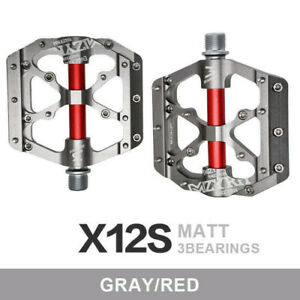 """1 Pair 9/16"""" Alloy Pedals Cycling Mountain MTB Bike Bicycle 3 Bearing Flat Pedal"""