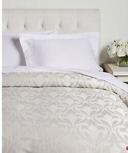 Frette Galena Arredo Jacquard Cotton Sateen QUEEN Duvet Cover 4 Pillow Shams Set