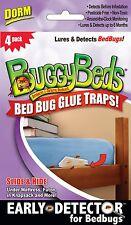 Bed Bug Trap - BuggyBeds Dorm Glue Traps (Pack of 4) - Detect Before Infestation
