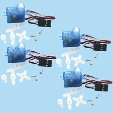 4PCS 3.7g mini micro Servo for Rc helicopter Airplane Foamy Plane Boat Car I