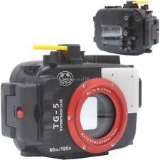 60m 195ft Underwater Diving Waterproof Housing Case for Olympus TG5 TG-5  Camera