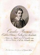 Napoli - Pittura, Scultura, Architettura. CAV. GIO. LORENZO BERNINI. Morghen inc