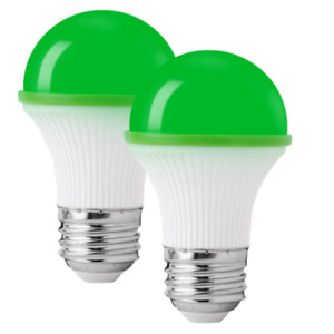 Green Light Bulb 40 Watt Equivalent UL Listed 3W/A15/e26/ Waterproof Indoor Outd