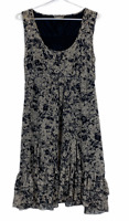 Jacqui E Womens Brown/Black Sleeveless Lined Sequined Dress Size 12
