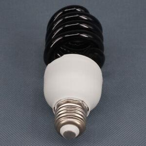 E27 40W 220V Energy Saving Ultraviolet UV Spiral Black Light Lamp Purple Light