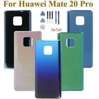 For Huawei Mate 20 Pro Battery Cover Housing Glass Rear Door Back Case +Adhesive